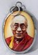 China / Tibet / India: Tibetan Buddhist amulet of  The 14th Dalai Lama, Tenzin Gyatso (1935- )