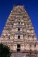 India: The Eastern tower (gopuram) rises above the Virupaksha Temple, Hampi, Karnataka State